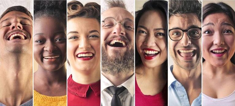 collection of people smiling | general dentist flowery branch ga